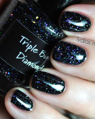 Triple Black Diamond swatched by Lydias Nails 1