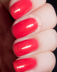 Pink Grapefruit swatched by Chalkboard Nails