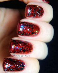 Morticia swatched by Globe & Nail