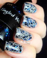 Tangled Web swatched by Globe & Nail
