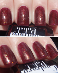 Almandine swatched by More Nail Polish