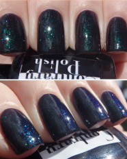 Obsidian swatched by More Nail Polish