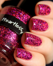 Heartless swatched by Globe & Nail