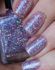 Spangled Starlight swatched by @emilydemolly