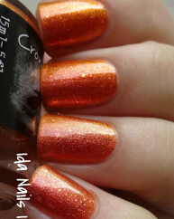 Dont Piss Off the Pumpkins swatched by Ida Nails It