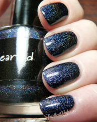 Darkhearted swatched by Pointless nail Cafe 2